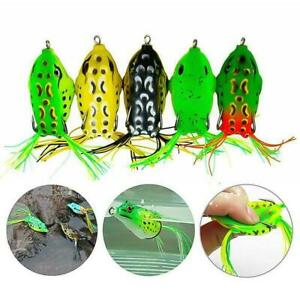5 Pcs Topwater Frog Lures, Bass Fishing Lures Kit , Soft Frog Bait Frog Lure