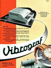 1954 Vibrograf Switzerland 1950s Swiss Print Ad Advert Reno Le Porte Echappement