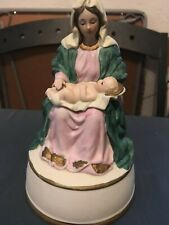 Madonna With Child Music Box - Milano Porcelain By Edna