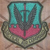 USAF AIR FORCE: TACTICAL AIR COMMAND PATCH SUBDUED BDU UNIFORM MILITARY AVIATION