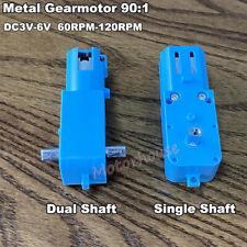 DC 3V 5V 6V 120RPM Slow Speed Micro Mini Metal Gear Motor DIY Smart Car Robot