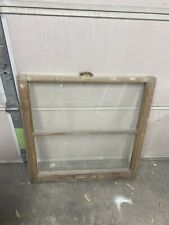 Vintage Wood Windows 2 Pane Wood Window Sash Old Antique Mantel Decor Frames