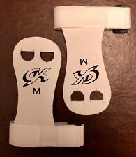 Was $15.99 Nwt! Gk Elite Gymnastics Hand Grips With Straps Gk32 White Sz Medium