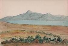 CROAGH PATRICK MOUNTAINS MAYO IRELAND Victorian Watercolour Painting 1903