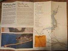 The Floating Piers di Christo e Jeanne-Claude Stoffa e Cartina Depliant