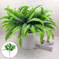 14 Leaves Artificial Plants Flower 7 Fork Fern Persian Fuax Plants Garden Office