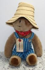 Vintage 1976 Eden Toys FARMER PADDINGTON BEAR Overalls Straw Hat