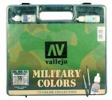 AV Vallejo Modello 70173 colore gamma Militare Box Set 72 COLORI 3 Pennelli E Custodia