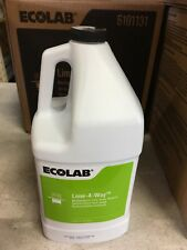 Case of 4 Gal Ecolab 6101131 Lime-A-Way Multipurpose Lime Scale Remover EXP 1/21