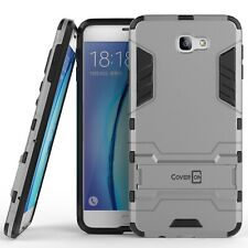 For Samsung Galaxy On7 2016 / Galaxy NXT Case Armor Kickstand Hard Cover Silver