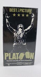 New Sealed PLATOON 1986 Willem Dafoe Tom Berenger Charlie Sheen VHS VTG Tape