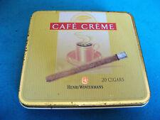 Ancienne boite métal (vide) à cigares CAFÉ CRÈME Wintermans type # 3