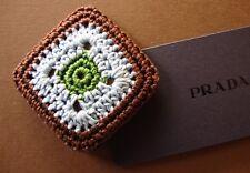 BROOCH SPILLA  woman PRADA mod. Crochet   made in Italy  New! RARE