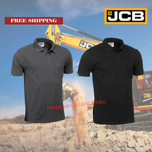 JCB Essential Polo Shirt twin pack in Grey or Black. 220 gsm. Chest pocket