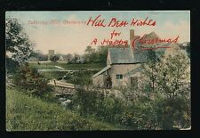 Gloucestershire CHELTENHAM Cubberley Mill Ovpt Xmas - delivery Xmas day 1907 PPC