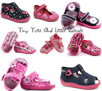 Girls Sandals Nursery Slippers Shoes Leather Antibacterial Insole Sizes UK 3 - 9