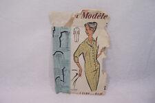 Ancien PATRON Modèle 1950 ROBE n°67017 Taille 42-44-46 L'ECHO de la MODE