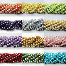 4 mm Fashion Czech Plastic Pearl Round Loose Charms Spacer Beads Jewelry Making