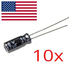 10PCS 47uF 16V Electrolytic Capacitors