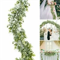 6.3Ft Artificial Fake Eucalyptus Garland Plants Greenery Foliage Wedding Decor/