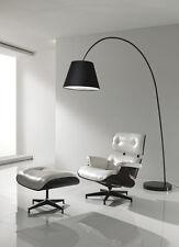 Lampada Ad Arco SMARTY Da Terra Base Marmo Nero Bianco Stelo In Metallo