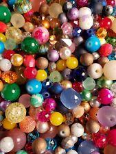 210 GLASS Beads Random Mix 100% NEW - Assrtd Sizes & Styles -8 -12mm + 3 BONUSES