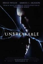 Unbreakable Movie Poster 27 x 40, Bruce Willis, Samuel L. Jackson, A, Usa New