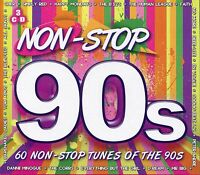 NON-STOP 90s - 3 CD BOX SET, 60 NON-STOP TUNES, EAST 17, SIMPLY RED & MANY MORE
