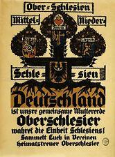 PROPAGANDA POLITICAL PATRIOTISM SILESIA GERMANY AFTERMATH WWI WAR POSTER LV3753
