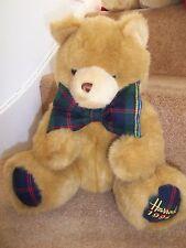 Harrods pied daté Highland Tartan 1994 Christmas Teddy Bear 23rd Anniversaire Cadeau