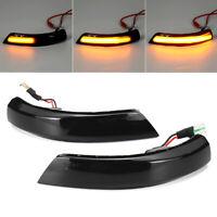 2× Dynamic LED Turn Signal Mirror Indicators Light For Ford Focus Mk2 Mk3 Mondeo