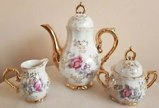 Vintage Tea Set Made In Japan With Gold And Flower Details