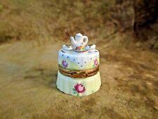 Artoria Limoges Peint Main Tea & Dessert On Fancy Table W/Roses Trinket Box #200