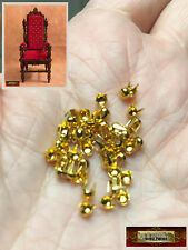 M01521-Gold MOREZMORE 50 Studs 3mm Spikes Round Dome Tacks Miniature DWS