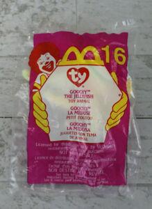 Vintage 2000 McDonalds Happy Meal Toy, Ty Teenie Beanies #16 Goochy Jellyfish