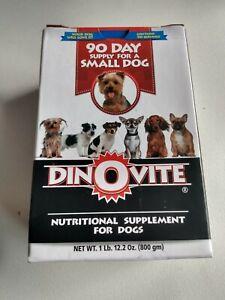 Dinovite Dog Supplement 90 Supply  Small Dog, New