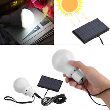 New Solar Power LED Rechargeable Bulb Light Outdoor Camping Home Yard Lamp Decor