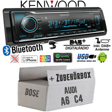 Kenwood Autoradio für Audi A6 C4 Bose DAB+ Bluetooth/iPhone/Android/Spotify Set