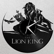 Lion King Wall Clock, Vinyl Wall Clock, Record Clock, Disney Clock, Large Clock