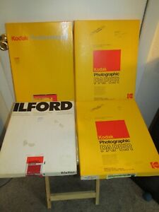 """(120+) Sheets of KODAK and ILFORD 11"""" x 14"""" Photographic Paper - MINT!"""