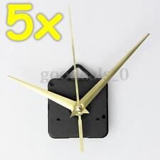 5x Wall Quartz Clock Spindle Long Gold Hand Movement Mechanism Repair Kits DIY