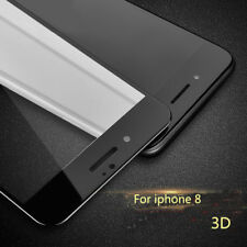 For iPhone 8 3D Curved Full Cover Black Tempered Glass Screen Protector