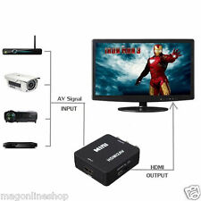 Black HD HDMI to AV CVBS+L/R HDMI to RCA converter adapter 420P Mini hdmi2av
