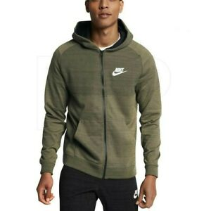 Nike Mens Advance Full Zip Sportswear Hoodie M Medium Olive Khaki (Green) EUC
