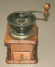 More details for vintage wooden & brass coffee grinder great working condition
