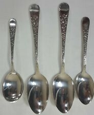 Birks Regency Plate London Engraved Spoons - 4 Pcs