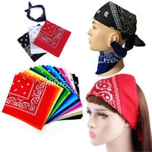 100% Cotton Paisley Cowboy Bandana Scarf Head Wrap Neck Wristband Handkerchief