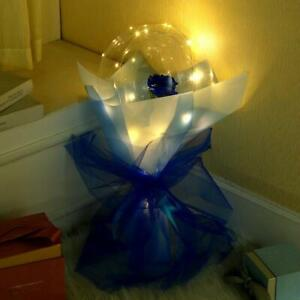 LED Balloons Blue Rose Flower Bouquet Birthday Anniversary Weddings Party Gift