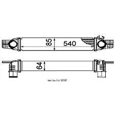 Ladeluftkühler NRF 30254
