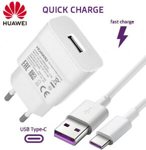 Original Schnell-Ladegerät für Huawei QUICK-CHARGE Ladekabel fast-charger USB-C